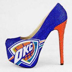 NBA Oklahoma City Thunder Limited Edition Crystal Pumps