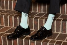 Tiffany blue socks on the groom