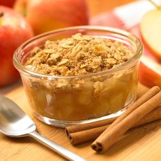 Weight Watchers Baked Apple Streusel (3pp)    Ingredients:  - 4 medium apples  - 1/2 cup unpacked brown sugar  - 1/2 tsp ground cinnamon  - 2 tbsp fresh lemon juice  - 1/4 cups all-purpose flour  - 1/4 cups uncooked old fashioned oats  - 3 tbsp reduced-calorie margarine        Read more: http://www.laaloosh.com/2008/12/13/baked-apple-streusel-weight-watchers-recipe/#ixzz2J7bwLGCG