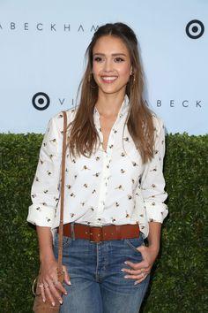octopusmagnificens — Actress Jessica Alba attends Victoria Beckham for...