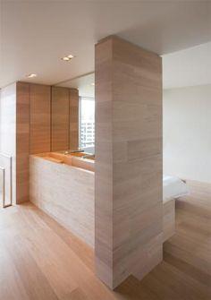 :: BATHROOMS :: Design Practice: Jolson Architecture Interiors - Photography: Jason Busch, lovely wood detailing #bathrooms #interiors