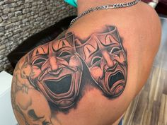Smile now, Cry later  #tattoo #tattoos #tattooed #tattoostyle #inked #ink #rosenheim #raubling #badaibling #blackandgreytattoos #tattooraubling #hustlebutter #inkjecta #tattoomed #chicanotattoo #mexicanstyle #mask