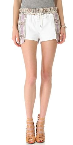 Rebecca Minkoff Python Leather Printed Mika Shorts | SHOPBOP