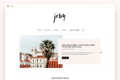 Jouy - A Minimal Blog Theme  WordPress Themes | Lifestyle Blog Theme | Fashion Blogger | GirlBoss   Blog Design | Feminine WordPress Theme | Pink WordPress Theme for Beauty   Bloggers #WordPressTheme #BlogDesignInspo #BlogDesign