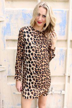 Oliver Dress. Leopard Print Dress at Unhinged Boutique. Order www.unhingedboutique.com. @unhingedboutik