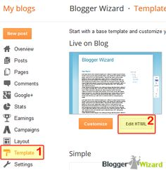 blogger_dashboard_edit_html Make Money Blogging, How To Make Money, How To Become, Html Layout Templates, Blogging For Beginners, Tutorials, Learning, Words, Fun