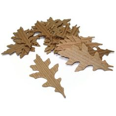 what a clever way to recycle those cardboard cup sleeves! Oak Leaf Die Cuts Corrugated Coffee Sleeves Upcycled by Loustudio, $4.00