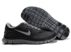 1d6ac6dac35ae Discounts Nike Free 4.0 V2 Mens Black Grey Mens Shoes Sale