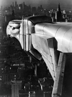 A Chrysler Building Gargoyle, photographed by Margaret Bourke-White (1931)