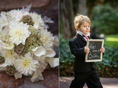 Johnstone Studios - fairytale nevada wedding, flowers, wedding sign, ring boy