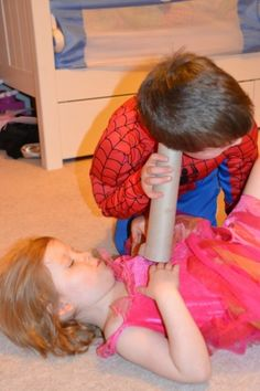 homemade stethoscope to listen to heart. Lots of great, fun and easy science activity ideas for Valentine's day #Science