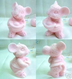 3D Lucky Wealthy Mouse Silicone Soap Candle Mold | eBay