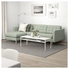 LANDSKRONA Sectional, - with chaise, Grann/Bomstad gray-green/wood - IKEA long by 62 chaise length by 35 sofa depth seat). how look under Ann/Garth's window? At Home Furniture Store, Modern Home Furniture, Landskrona Sofa, Ikea Sortiment, Vert Metal, Ikea Family, Sofa Frame, Home Furnishings, Love Seat