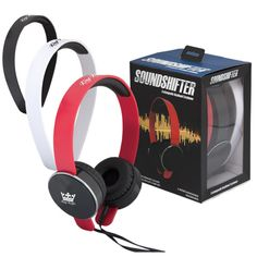 Bags for LessTM Soundshifter Headphones with Interchangeable Headbands Red White and Black Noise Cancelling Headphones, Beats Headphones, Over Ear Headphones, Headphone With Mic, Corporate Gifts, Abs, Headbands, Compact, Gift Sets