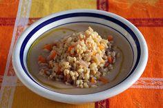 Briciole di Salute - ricette e consigli per mangiare in modo salutare: Crema di sedano rapa e mele con insalata di orzo -...