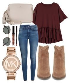 A fashion look from September 2017 featuring short sleeve tops, super skinny jeans and steve madden booties. Browse and shop related looks. Cute Fall Outfits, Preppy Outfits, Fall Winter Outfits, Autumn Winter Fashion, Spring Outfits, Girl Outfits, Fashion Outfits, Womens Fashion, Fashion Weeks