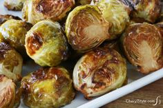 yummy roasted brussels sprouts with balsamic vinegar | CherylStyle.com