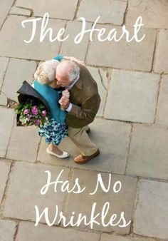Having someone there for you in old age and aging together can bring happiness.