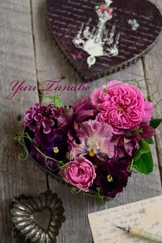 Heart of arrangement de fleurs de l'image   Sabrina - fleurs et photo vie ~