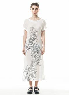 White midi dress of a nymph