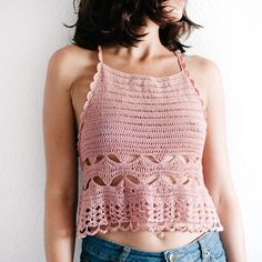 DIY Stylish Racer-Back Camisole ~ #FreeCrochetPattern (PDF download) Autumn Tops, Aran Weight Yarn, Free Crochet, Crochet Top, Camisole, Free Pattern, Crochet Patterns, All Free Crochet, Crochet Pattern