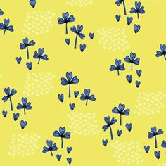 Wish me luck! Clover pattern by Laurence Lavallée aka Flo #cloverfield #pattern #print #surfacepattern #illustration