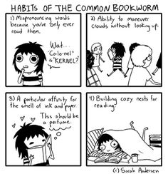 Sarah's Scribbles: HABITS OF THE COMMON BOOKWORM by Sarah C Anderson #icanrelate