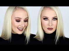 Dark, Smokey & Sparkly Eye and Lip Tutorial!   Lauren Curtis #beauty #expert #youtube #blogger #londe #fair #skin #makeup #brown #shimmer