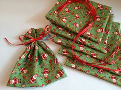 Santa Claus Mini Gift Bags, Favors and Stocking Stuffers