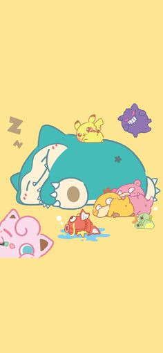 Cute Pokemon Wallpaper, Kawaii Wallpaper, Wallpaper Iphone Cute, Cute Cartoon Wallpapers, Pokemon Jigglypuff, Pikachu, Kawaii Art, Kawaii Anime, Chibi