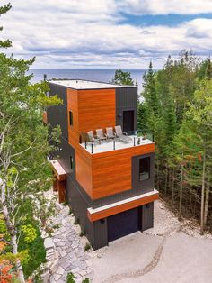 Contemporary Design in Lion's Head, ON Modular Home Builders, Custom Modular Homes, Custom Homes, Contemporary Cottage, Contemporary Design, Modern Design, Model Homes, Architecture, Gallery
