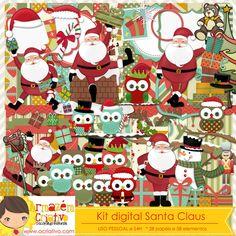 Kit digital Santa Claus