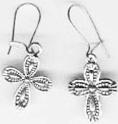 Cross Earrings Pretty by JewelryLoveCharm on Etsy