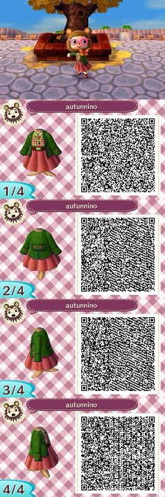QR-Codes - New Ideas Autumn coloured outfit. QR-Codes - New Ideas Autumn coloured outfit. Animal Crossing Qr Codes Clothes, Animal Crossing Pocket Camp, Animal Crossing Game, Animal Games, My Animal, Leaf Animals, Cute Animals, Deco Gamer, Film Manga