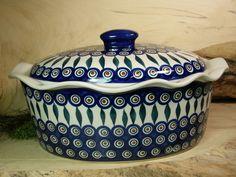 Traumhafte Bunzlauer Keramik Kasserole mit Deckel - original Bunzlauer Keramik aus Schlesien.  Einzelstück.  34 x 26 cm, Höhe 16 cm.  Verkau...