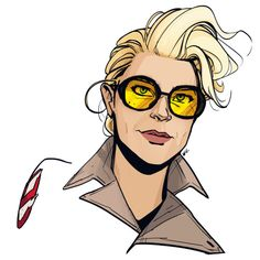 … And a quick wind-down doodle. You guys, I'm really digging Kate McKinnon's vibe in the Ghostbusters set pics.