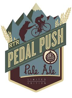 RTR Pedal Push Pale Ale logo design for Odell's Brewery.