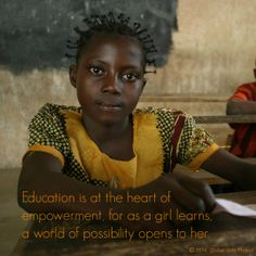 Education is at the heart of empowerment.
