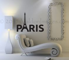 Eiffel Tower wall decal Paris wall decal living by ValdonImages #dormdecor #bedroomdecor #teendecor