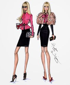 Hayden Williams Fashion Illustrations: 'Day to Night' by Hayden Williams