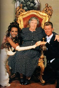 David Bowie, his mother and Iman