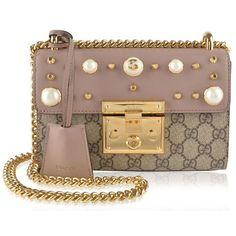 359c997dc8a Gucci Padlock Studded Gg Supreme Shoulder Bag ( 1