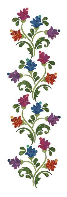 New Embroidery Flowers Designs Quilt Blocks Ideas Machine Quilting Patterns, Applique Quilt Patterns, Hand Applique, Applique Designs, Embroidery Applique, Quilting Designs, Embroidery Patterns, Machine Embroidery, 3d Quilling