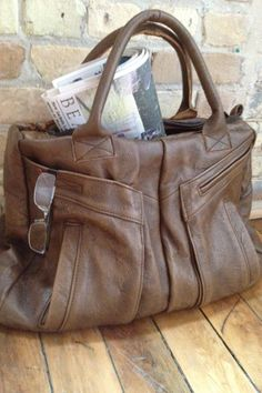 The Weekender Bag in upcycled leather