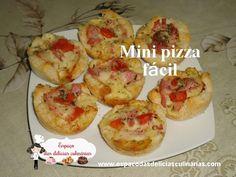 Mini pizza fácil (vídeo) - Espaço das delícias culinárias