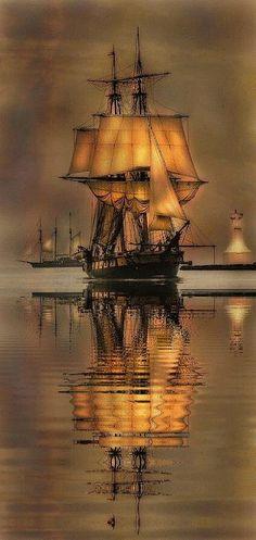 ♥«´¨`•°~ℒℴ℣ℇ~°•´¨`»♥   Ship reflecting