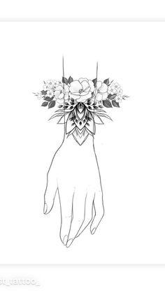 Dot Tattoos, Bild Tattoos, Finger Tattoos, Body Art Tattoos, Sleeve Tattoos, Floral Tattoo Design, Flower Tattoo Designs, Tattoo Motive, Arm Tattoo
