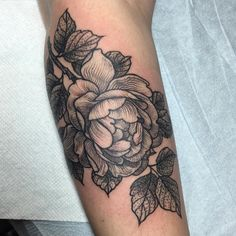 Victorian Rose Tattoo My new tattoo! Wooden ...