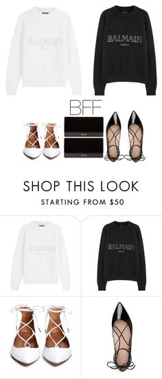"""""""Untitled #534"""" by kylie100 ❤ liked on Polyvore featuring Balmain and Kate Spade"""