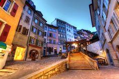 Escaliers Du Marche, Lausanne, Switzerland Stock Photo - Image of historical, angle: 14193012 Lausanne, Photography Software, Hdr Photography, Lake Geneva, Free Things To Do, Romanesque, Editing Pictures, Photo Editor, High Definition